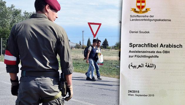 """""""Wertefibel"""" für unsere Soldaten (Bild: APA/HERBERT P. OCZERET, Krone)"""