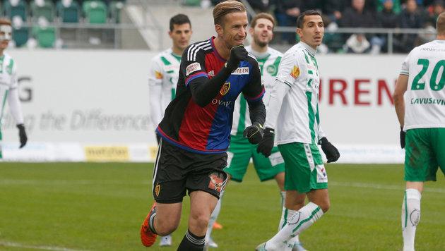 11. Ligator für Janko bei Basels 1:2 in St. Gallen (Bild: GEPA)