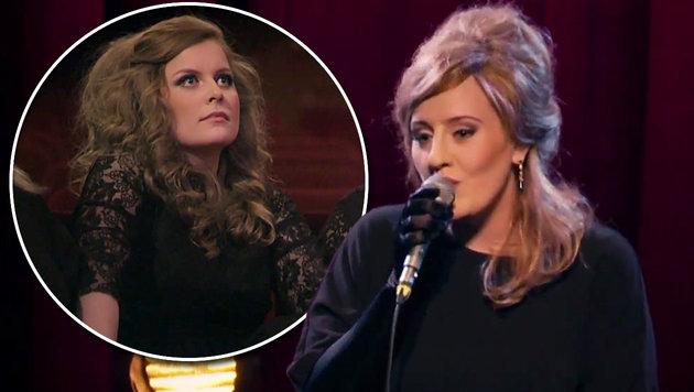 Adele mischt sich unter Doppelgänger-Wettbewerb (Bild: YouTube.com/BBC)