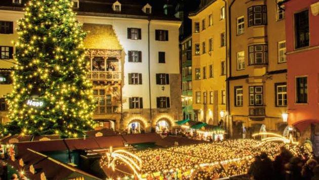 Weihnachtszauber vor dem Goldenen Dachl in Innsbruck (Bild: Advent in Tirol)