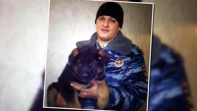 """""""Dobrinja"""" soll nach seiner Ausbildung anstelle von """"Diesel"""" bei der Pariser Polizei Dienst machen. (Bild: APA/AFP/RUSSIA""""S INTERIOR MINISTRY)"""