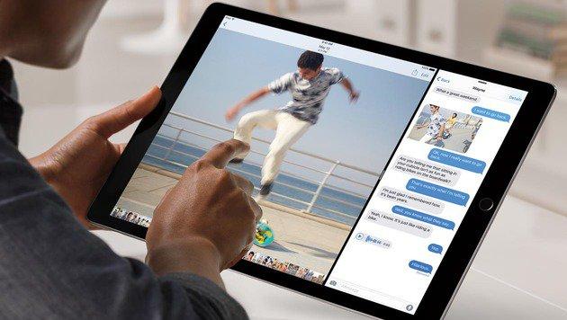 Multitasking geht auf dem größeren Display des iPad Pro leichter von der Hand. (Bild: Apple)