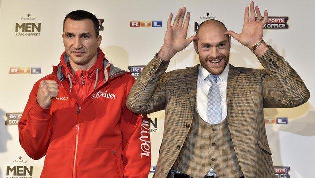 Klitschko vs. Fury wegen Knöchelblessur verschoben (Bild: AP)