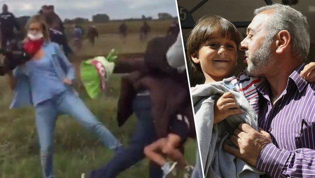 Getretener Flüchtling will nun nach Österreich (Bild: APA/EPA/MARISCAL,YouTube.com)