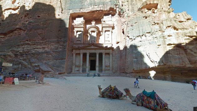 Google präsentiert historische Stätten Jordaniens (Bild: Google Street View)