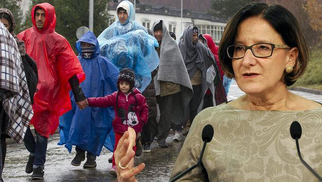 Mikl-Leitner erwägt nun Obergrenze für Flüchtlinge (Bild: APA/ERWIN SCHERIAU, APA/HERBERT PFARRHOFER)