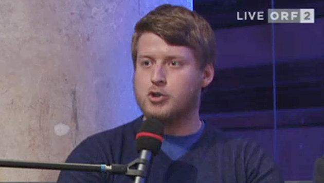 """""""Identitären""""-Chef Markovics sorgt mit seinem Auftritt beim ORF-""""Bürgerforum"""" für Empörung. (Bild: tvthek.orf.at)"""