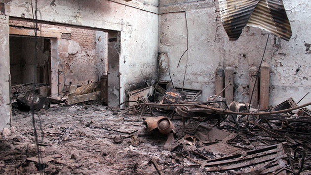 """Krankenhaus bombardiert: """"Kein Kriegsverbrechen"""" (Bild: AP)"""