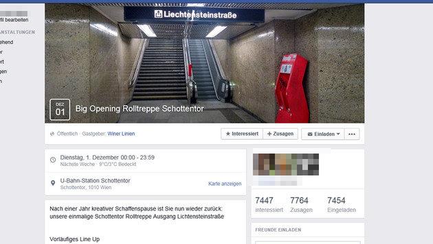"""""""Rolltreppen-Opening"""" wird zum Facebook-Hit (Bild: Screenshot facebook.com)"""
