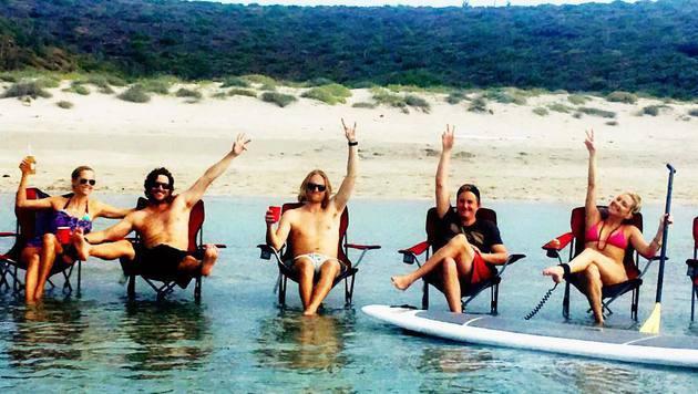 Kate Hudson beim Entspannen mit ihrer Familie (Bild: Viennareport)