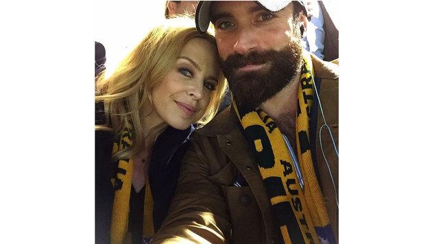 Kylie Minogue und Joschua Sasse (Bild: Viennareport)
