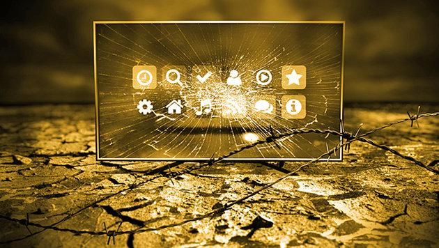 Erpresser-Virus für TV-Geräte versaut Fans die EM (Bild: Symantec)