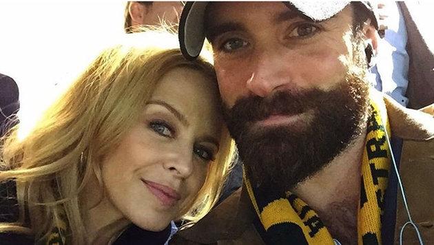 Kylie Minogue und Joshua Sasse (Bild: Viennareport)