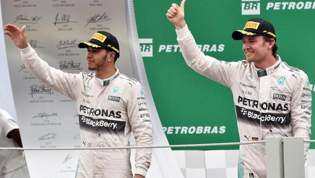 Mercedes jagt in Abu Dhabi eigenen Punkterekord (Bild: APA/AFP/NELSON ALMEIDA)