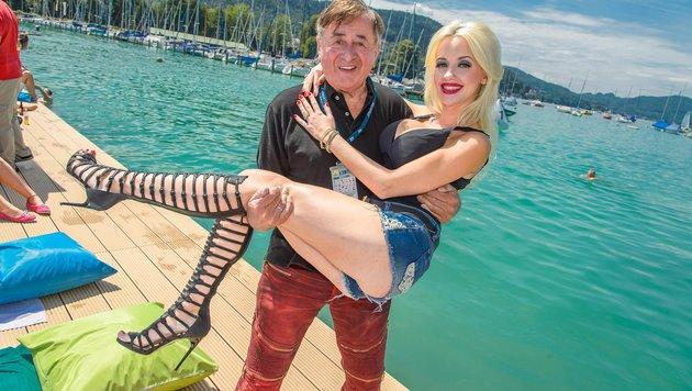 Cathy Lugner mit Ehemann Richard (Bild: Viennareport)