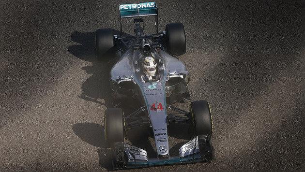 Weltmeister Lewis Hamilton im Mercedes (Bild: AP)