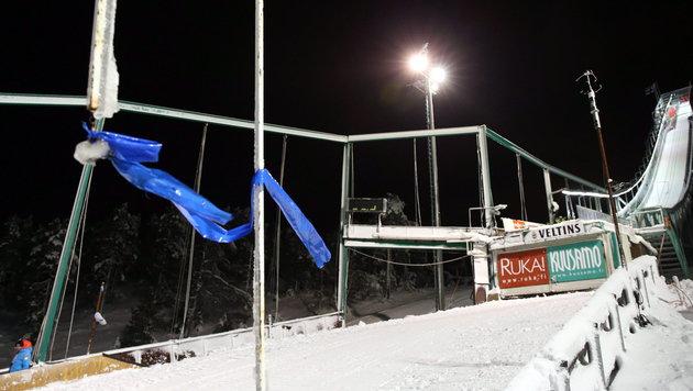 Starker Wind: Skispringen in Kuusamo abgesagt (Bild: APA/EPA/GRZEGORZ MOMOT)