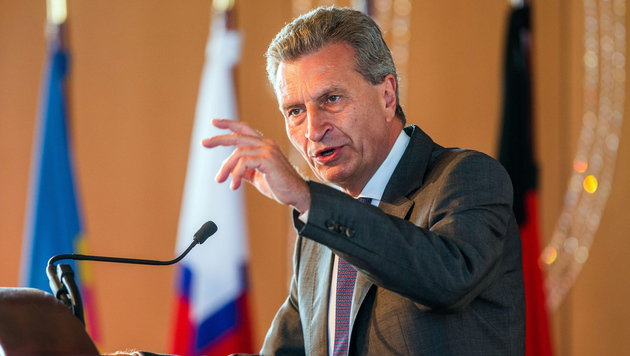 EU-Kommissar G�nther Oettinger (Bild: APA/EPA/JENS BUETTNER)
