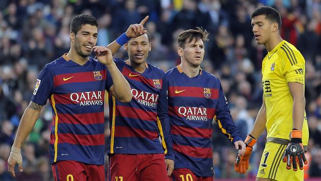"""Barcelona will nach """"spektakulärem Jahr"""" nachlegen (Bild: AP)"""