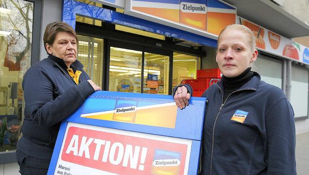 Sabine B. (re.) und Manuela L. haben für Zielpunkt alles gegeben. (Bild: Martin A. Jöchl)