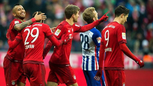 Video: Hier erdrücken die Bayern Hertha BSC (Bild: APA/EPA/SVEN HOPPE)