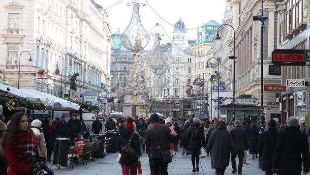 Der Wiener Kohlmarkt am ersten Adventwochenende (Bild: Zwefo)