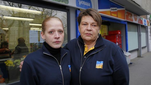 Sabine B. und Manuela L., zwei Opfer der Zielpunkt-Pleite (Bild: Martin A. Jöchl)