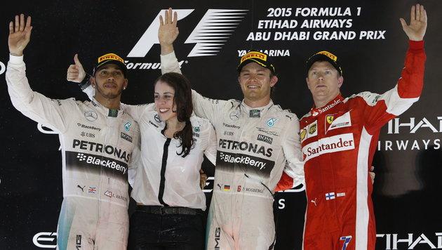 Abu Dhabi: Nico Rosberg gelingt Sieg-Hattrick (Bild: APA/EPA/ALI HAIDER)