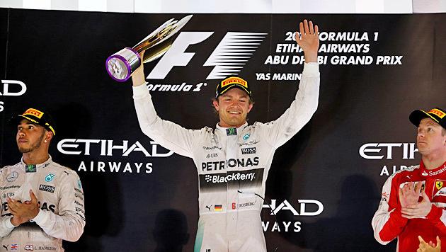 Abu Dhabi: Nico Rosberg gelingt Sieg-Hattrick (Bild: APA/AFP/MARWAN NAAMANI)