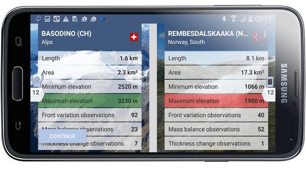 Diese App zeigt das Verschwinden unserer Gletscher (Bild: wgms.ch)