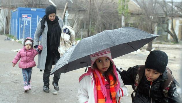 Flüchtlingsstrom verlagert sich jetzt nach Kärnten (Bild: APA/EPA/DJORDJE SAVIC)