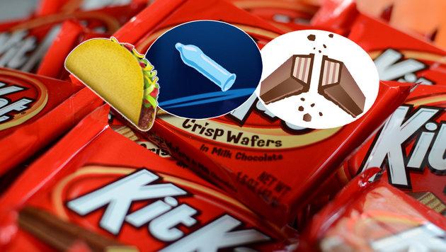 So wollen Konzerne Werbung in Emojis einschleusen (Bild: flickr.com/slgckgc, Emojipedia.org, change.org, Durex)