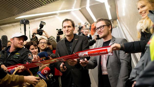 """""""Rolltreppen-Eröffnung wurde zur Megaparty (Bild: APA/GEORG HOCHMUTH)"""""""