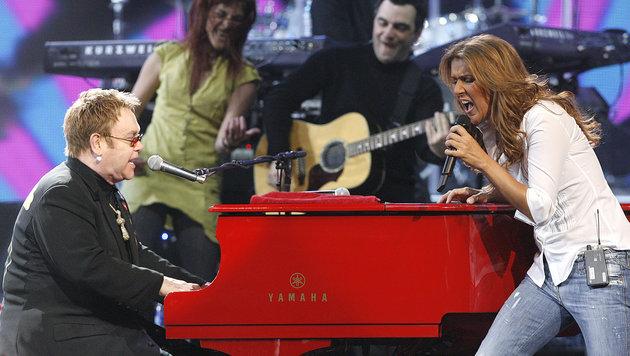 Im Benefizeinsatz mit Elton John 2006 (Bild: AP)
