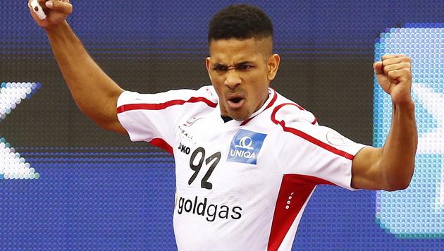 So wollen wir Raul Santos und Co. auch gegen Dänemark sehen! (Bild: APA/Qatar 2015 via epa/Nic Bothma)