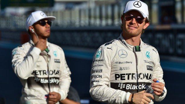 Hamilton und Rosberg verweigern Handschlag (Bild: APA/AFP/ANDREJ ISAKOVIC)