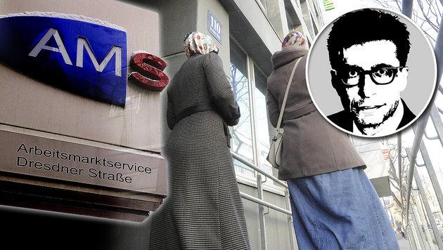 "Pándi über getrennte AMS-Kurse: ""Kulturschock"" (Bild: APA/ANDREAS PESSENLEHNER, APA/HERBERT PFARRHOFER)"