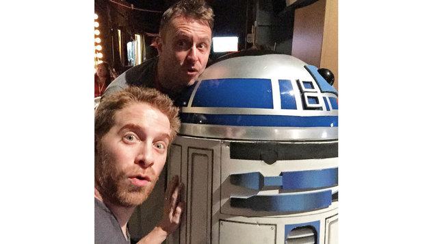 Seth Green ist völlig hin und weg von der Begegnung mit R2-D2- (Bild: Viennareport)