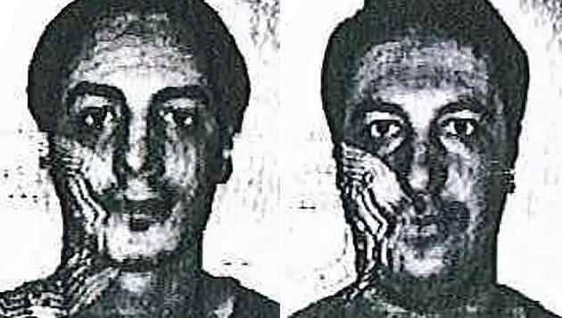 Die Gesuchten, die sich als Soufiane Kayal (links) und Samir Bouzid (rechts) auswiesen (Bild: APA/AFP/Belgian Police)