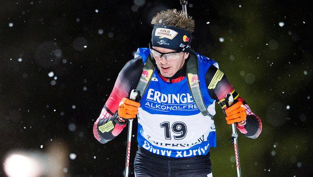 Grossegger bei Fourcade-Sieg im Sprint Elfter (Bild: GEPA pictures)