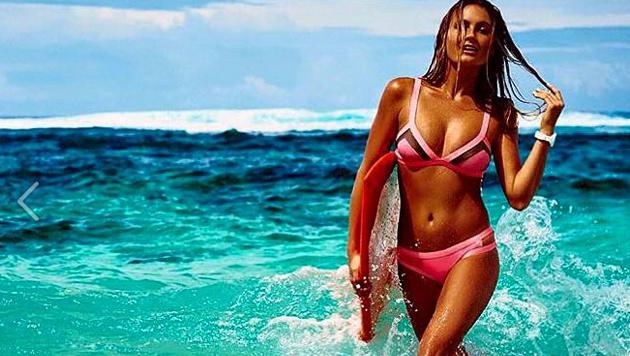 Heiß! Surferin Alana Blanchard präsentiert ihren Traumkörper. (Bild: facebook.com)