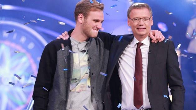Leon Windscheid gewinnt bei Günther Jauch die Million. (Bild: RTL)