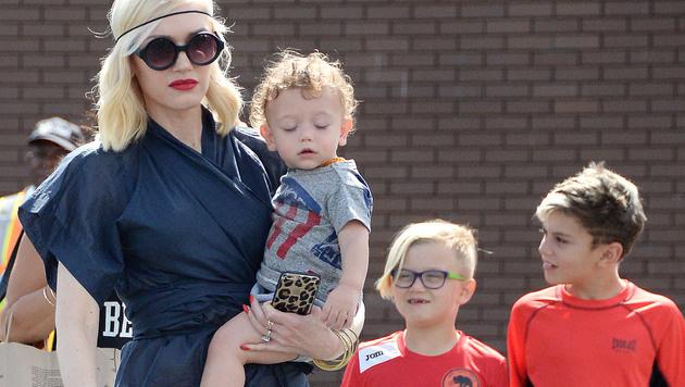 Gwen Stefani mit ihren Söhnen Apollo, Zuma und Kingston (v. links) (Bild: Viennareport)