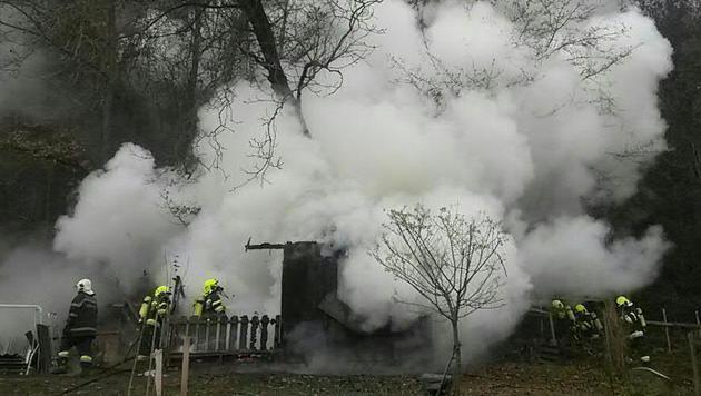 Der Brand war rasch gelöscht. (Bild: APA/FF LEOBEN-STADT)