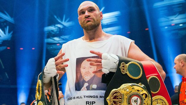 """Tyson Fury: """"Sie sollen mir alle Gürtel nehmen!"""" (Bild: APA/EPA/ROLF VENNENBERND)"""