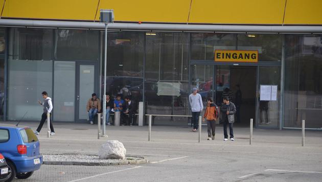 Die Flüchtlingsunterkunft in Leoben (Bild: Heinz Weeber)
