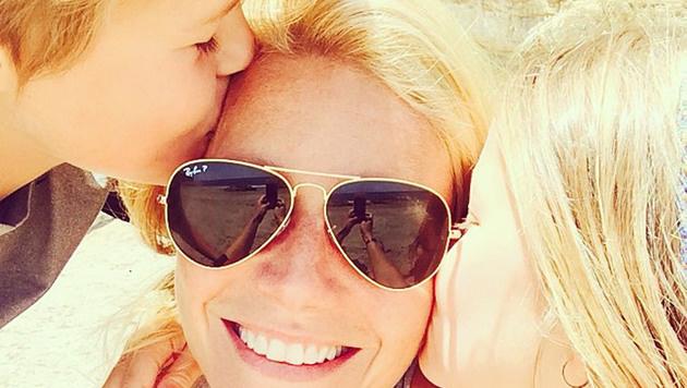 Gwyneth Paltrow mit ihren Kindern (Bild: Viennareport)