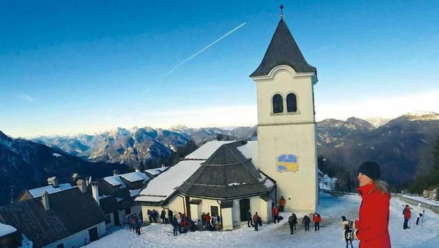 """Advent am Monte Lussari: beliebtes Bergziel gleich """"um die Ecke"""" im Friaul (Bild: Wallner)"""