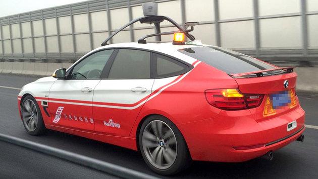 Jetzt haben auch die Chinesen selbstfahrende Autos (Bild: Baidu)