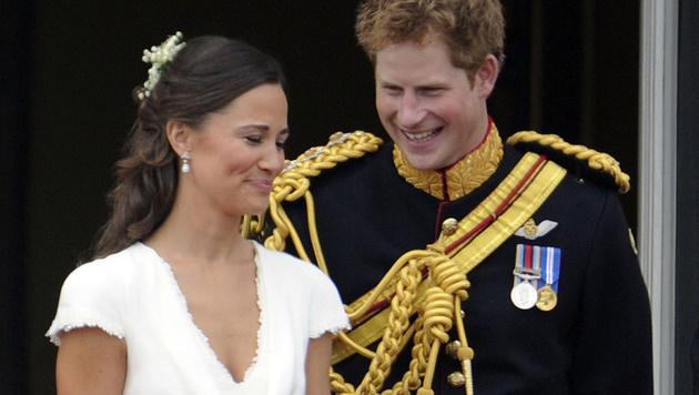 Pippa Middleton und Prinz Harry bei der Hochzeit von William und Kate (Bild: Viennareport)
